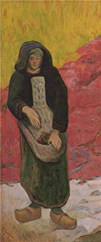 Oil Painting 'Paul Gauguin-Breton Girl,19th - 20th Century' 30 x 72 inch / 76 x 183 cm , on High Definition HD canvas prints is for Gifts And Basement, Bath Room And Living Room Decoration by LuxorPre