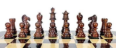 """Pasuk2788 New Galaxy Staunton Wooden Chess Set Pieces King Size 3"""""""