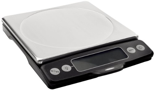 - OXO Good Grips Stainless Steel Food Scale with Pull-Out Display, 11-Pound