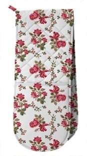 Pretty Floral Mittens Resistant Quilted