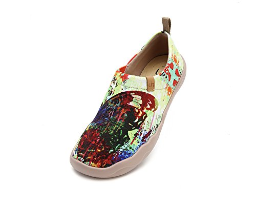 UIN Women's Butterfly Painted Canvas Slip-On Shoes Fashion Ladies Travel Shoes by UIN (Image #2)