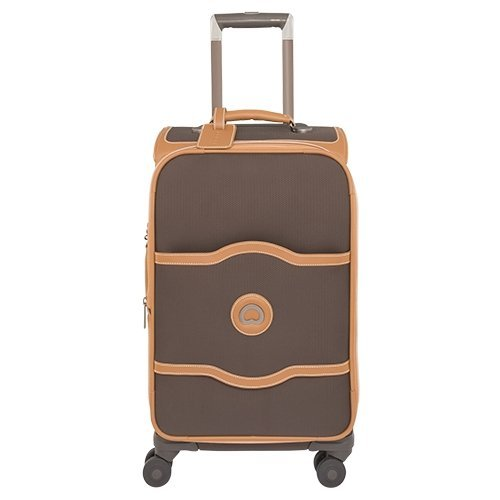 delsey-luggage-chatelet-softside-21-inch-4-wheel-spinner-chocolate