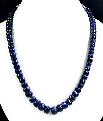 Natural Blue Sapphire 6-11mm Big Size Faceted Beads Gemstone Strands Necklace - Sapphire Briolette Bead