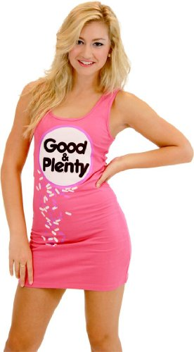Good & Plenty Candy Fuschia Tunic Tank Dress (Juniors Small)