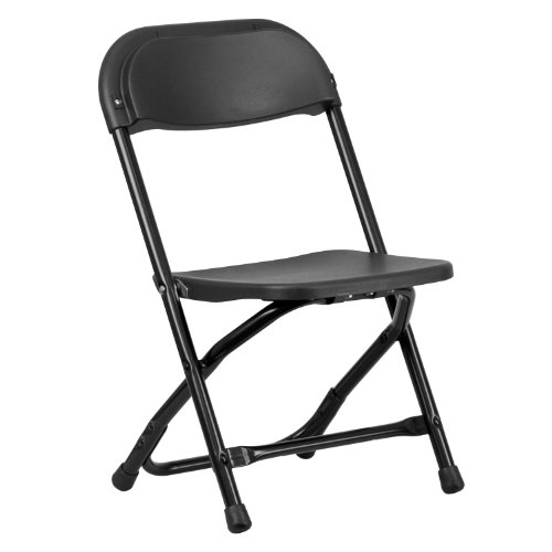 Folding Chair Steel Gg (Flash Furniture Kids Black Plastic Folding Chair)