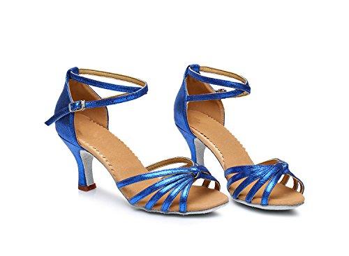 Pohjan Kengät Korkokengät 7cm Solmitut Tanssikengät Naisten Sininen Shangyi Latinalainen Pehmeän w0pwXq