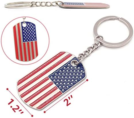 American Flag Red White Blue Jewelry on Stainless Steel Keyring New York City Key Chain Patriotic Keychain Statue of Liberty Keychain