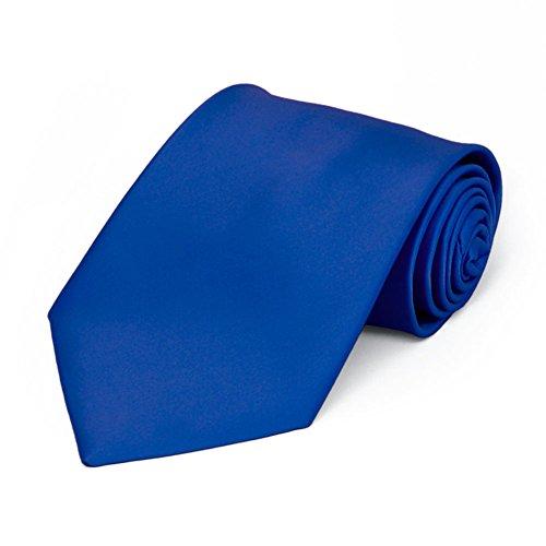 TieMart Boys' Horizon Blue Premium Solid Color Tie ()