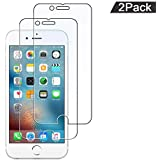 RuiBery [Tempered Glass] Screen Protector for iPhone 6 / iPhone 6S / iPhone 7 / iPhone 8 [2-Pack] Screen Protector with Lifetime Replacement Warranty