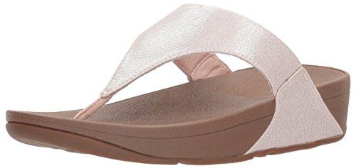 (FitFlop Women's Lulu Lizard-Print Flip Flops Sandal, nude, 7 M)