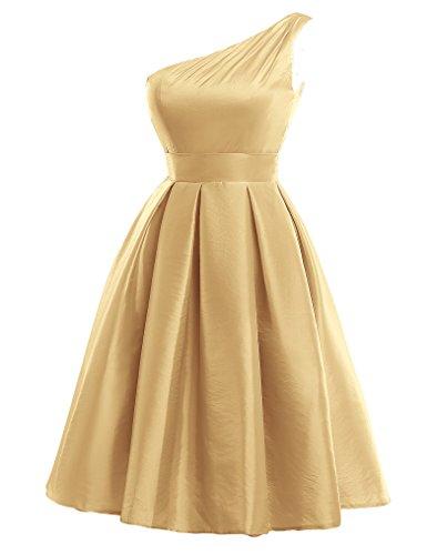 Kahki Donna Mall Bridal Vestito Monospalla 34 qfxgO