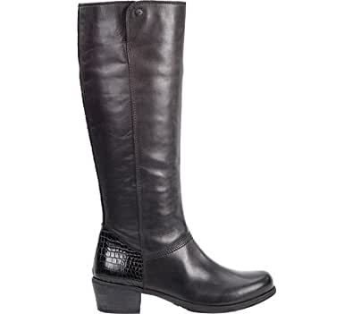 Amazon.com   UGG Women's Barton Croco Leather Boot, Black ...
