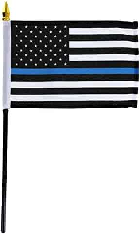 76a2c67aa43 US Flag Store FLGGK041000035864 Thin Blue Line American 4in x 6in Stick Flag