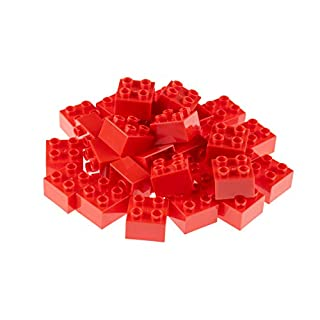 Strictly Briks Big Briks 32 Piece Red 2x2 Building Brick Creative Play Set - 100% Compatible with All Large Block and Brick Brands - Ages 3 and Up