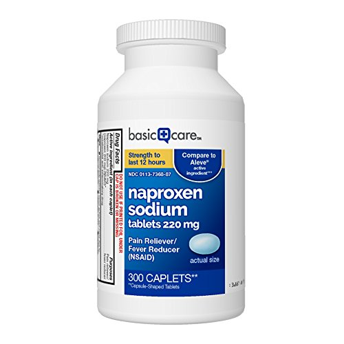 Basic Care Naproxen Sodium Tablets, 300 Count (Pack of 1) (Best Otc Pain Reliever For Toothache)