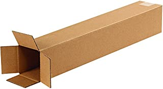"""product image for Partners Brand P4424100PK Tall Corrugated Boxes, 4"""" L x 4"""" W x 24"""" H, Kraft (Pack of 100)"""