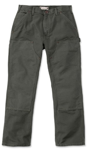 Jeans Double Carhartt Moos Work Eb136pantaloni Sottile B01signor Grün Front xTIIOS