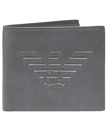 Armani Gray Maxi Gray Men's Armani Wallet Bifold Men's Logo RU575x