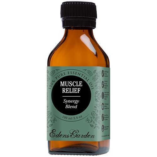 Muscle Relief Synergy Blend Essential Oil by Edens Garden- 100 ml (Clove, Helichrysum, Peppermint and Wintergreen) (Comparable to Young Living's PanAway blend)