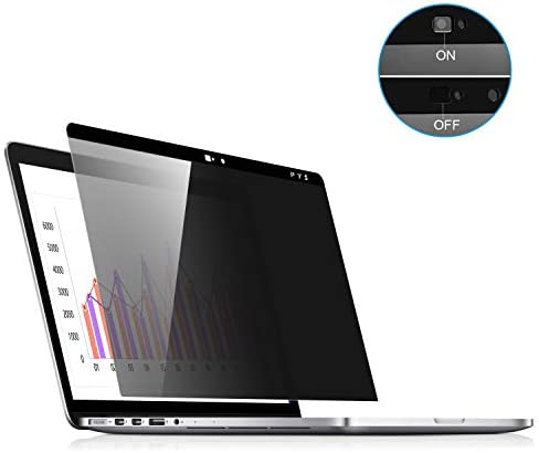 MacBook pro Privacy Screen 13 inch, Webcam Cover Slider – PYS Magnetic Privacy Screen Compatible with MacBook Pro 13.3 inch(Late 2016-2020 Including Touch Bar Models)-Anti Glare[Easy On]