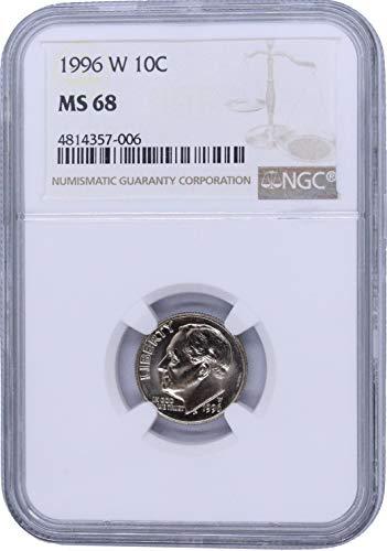 1996 W Roosevelt Dime 10C MS68 NGC - Ngc Dimes