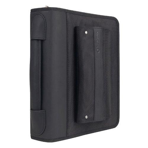 Classic Friday Nylon Zipper Binder With Handles - Black