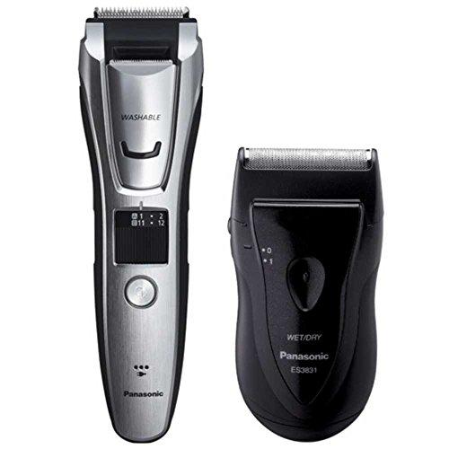 Panasonic Beard and Hair Trimmer with Panasonic Travel Shaver