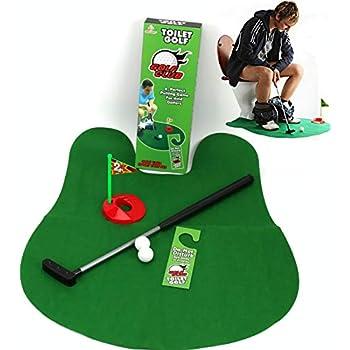 Amazon.com: DLseego - Juego de inodoro de golf, pozo en baño ...