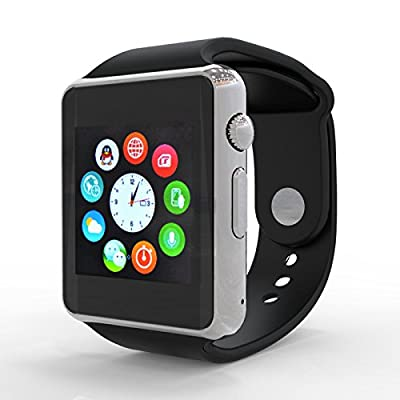 Foreet F1 Bluetooth Smart Watch Wristwatch Cell Phone Watch Phone Fitness Band Tracker For Android (Full functions) Samsung HTC Sony LG and iPhone (Partial functions)