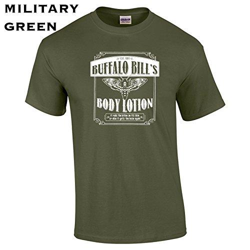 (Swaffy Tees 355 Buffalo Bill Body Lotion Funny Men's T)