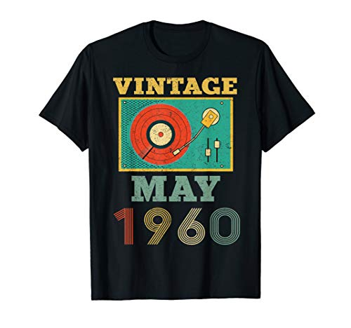 Vintage May 1960 Record Player Vinyl 59 Years Old Shirt (Record Player 1960)