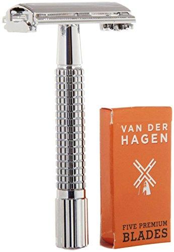 Van der Hagen Traditional Heavy Duty Safety Razor w 5 Blades
