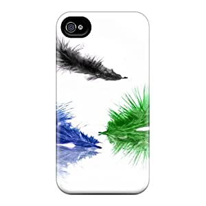 AlexandraWiebe Snap On Hard Cases Covers Feathers Protector For Iphone 6