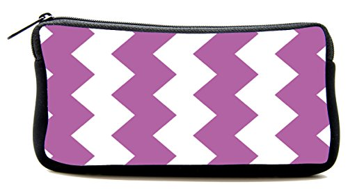 Pencil Bag purple Chevron Colorful Pen Case