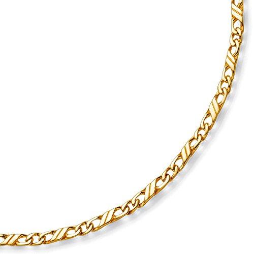 3 Jeu-couleur les bracelets, bracelet en or jaune 333 massif - 19 cm