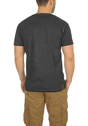 shirt T 9000 Courtes Manches Black En solid Chemise À Encolure 100 Tinny Avec Coton Pour V Homme 4EfWaqg