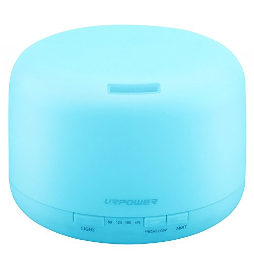 URPOWER 500ml Aromatherapy Essential Oil Diffuser Humidifier Room Decor Lighting with 4...