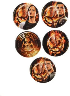 Amazon Com Neca The Hunger Games Catching Fire Tributes Pin Set