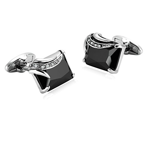 Epinki Mens Stainless Steel Silver Black Shiny Crystal for sale  Delivered anywhere in USA