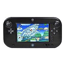 TNP Wii U Gamepad Case (Black) - Plastic + Aluminium Full Body Protective Snap-on Hard Shell Skin Case Cover for Nintendo Wii U Gamepad Remote Controller