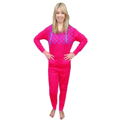 Unknown - Pijama de una pieza - para mujer Raspberry-Cyan Blue M
