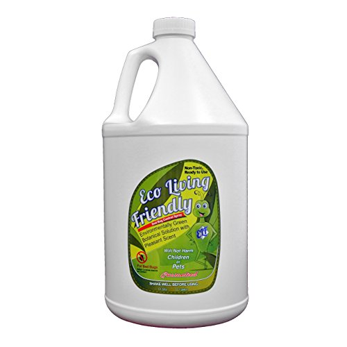 Eco Living Friendly for Bed Bug Control / Ready to Use, Non-Toxic, Natural, and Safe Bedbug Killer / 128 Ounce (1 Gallon) Refill