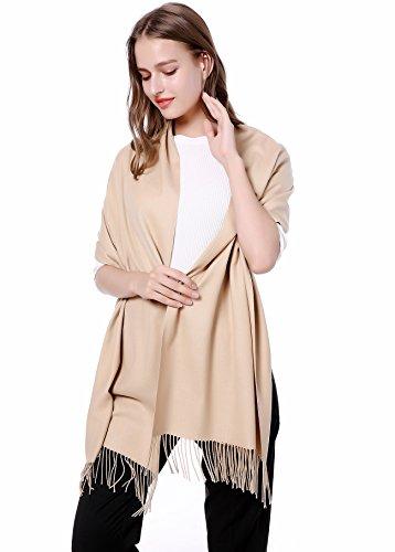 JAKY Global Cashmere Scarf Pashminas Wraps Shawl Super Soft and Warm 70' x 27' Scarves (khaki)