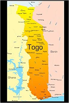 Map of Togo Journal: 150 page lined notebook/diary: Cool Image ...