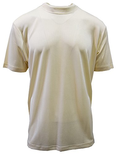 Stacy Adams Men's Basic Crew Neck T-Shirts (3XL, Cream) (Adams Stacy Cream Mens)