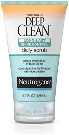 Facial Cleanser: Neutrogena Deep Clean Shine Control Daily Scrub