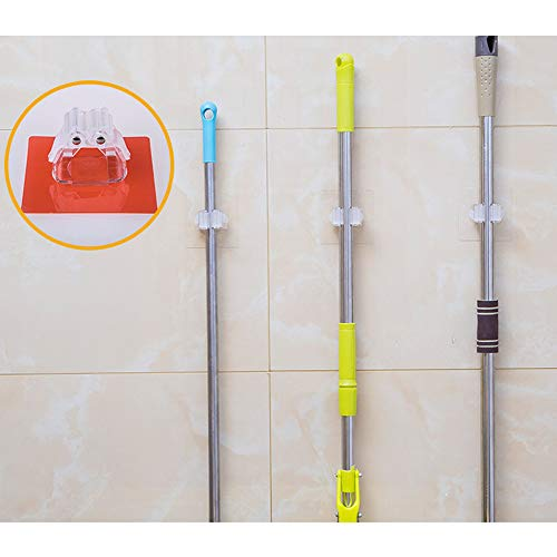 ♛Euone Wall Mounted Mop Holder ♛Clearance♛, Wall Mounted Mop Organizer Holder Brush Broom Hanger Storage Rack Kitchen Tool