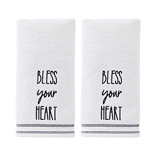 SKL Home by Saturday Knight Ltd. Bless Your Heart 2 Pc Hand Towel Set, Natural