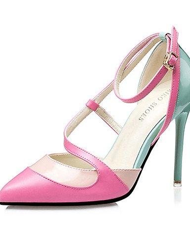 GGX/ Damenschuhe-High Heels-Lässig-PU-Stöckelabsatz-Absätze-Schwarz / Blau / Rosa black-us8 / eu39 / uk6 / cn39