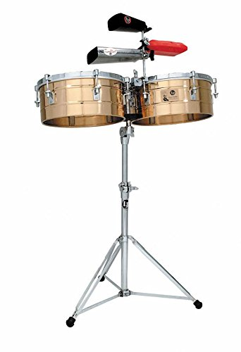 Tito Puente Timbale Stand - Latin Percussion LP257-BZ Timbal Solid Bronze